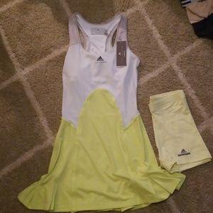 Adidas Stella McCartney tennis dress and shorts
